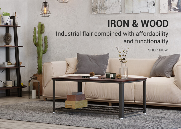 VASAGLE iron and wood furniture